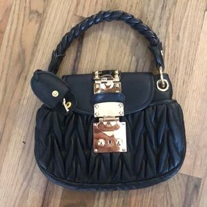 Handbags - NEW Black & gold Genuine leather purse clutch bag
